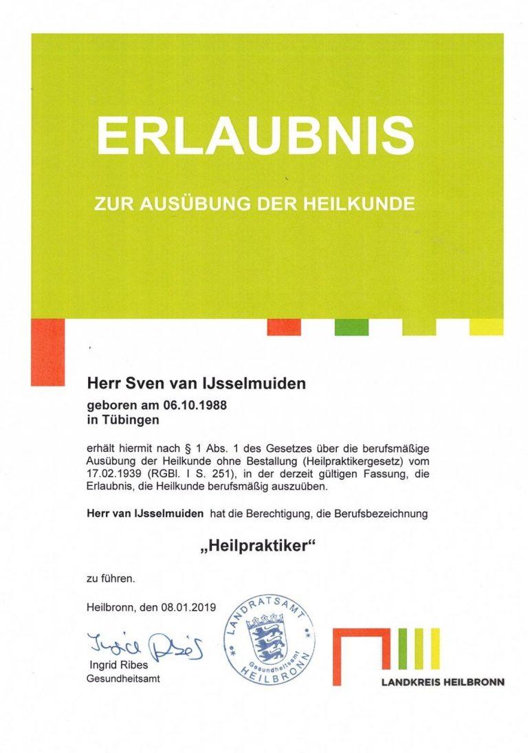 Erlaubnis zum Heilpraktiker in Stuttgart